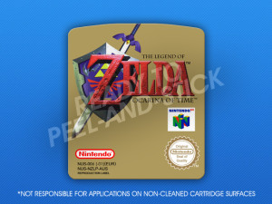 N64 - Legend of Zelda: Ocarina of Time (PAL-AUS) Label