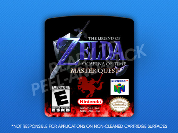 N64 - Legend of Zelda: Ocarina of Time Master Quest Label