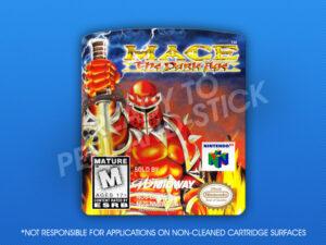 N64 - Mace: The Dark Age Label
