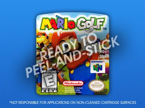 N64 - Mario Golf Label