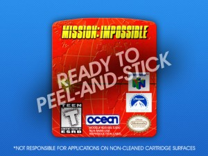 N64 - Mission: Impossible Label
