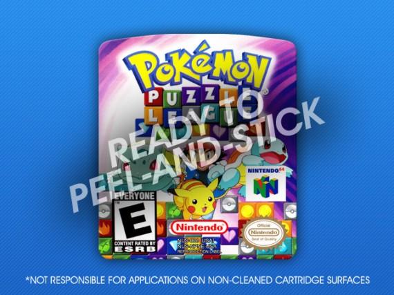 N64 - Pokemon Puzzle League Label