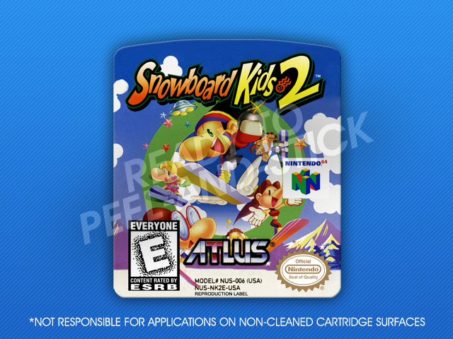N64 Snowboard Kids 2 Label Retro Game Cases
