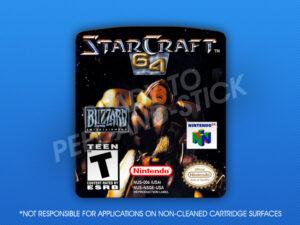 N64 - StarCraft 64 Label