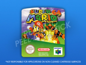 N64 - Super Mario 64 PAL Label