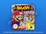N64 - Super Smash Bros. (PAL) Label