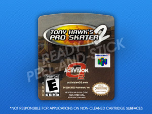 N64 - Tony Hawk's Pro Skater 2 Label