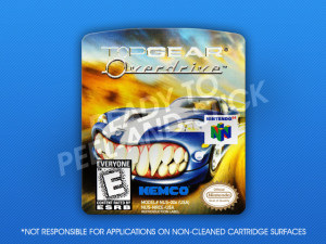 N64 - Top Gear Overdrive Label