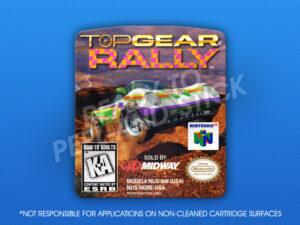 N64 - Top Gear Rally Label