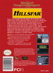NES - Advanced Dungeons & Dragons: Hillsfar (back)