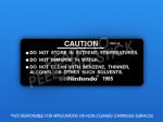 NES - Back (Black) Cartridge Label