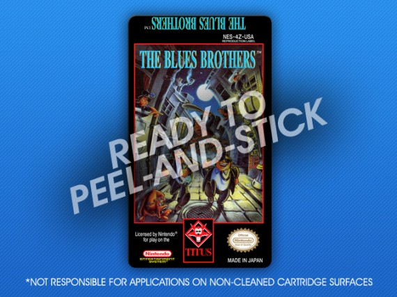NES - The Blues Brothers Label