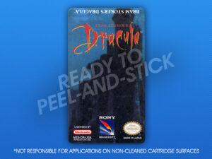 NES - Bram Stoker's Dracula Label