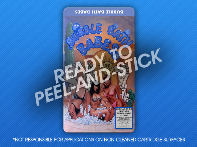 NES - Bubble Bath Babes Label