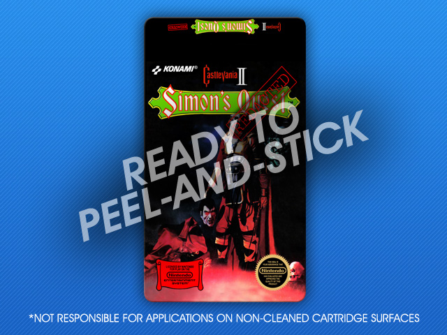 NES - Castlevania II: Simon's Quest Redacted Label