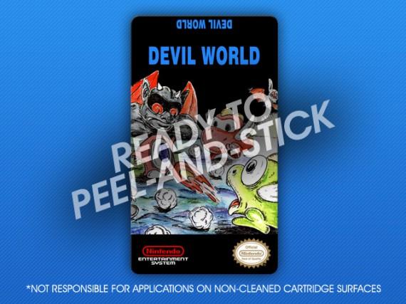 NES - Devil World Label