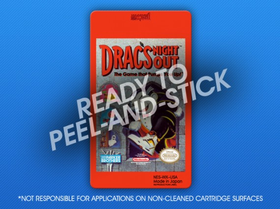 NES - Drac's Night Out Label