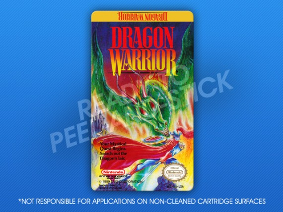 NES - Dragon Warrior Label
