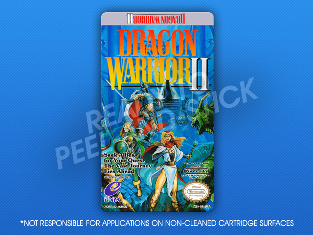 Nes Dragon Warrior Ii Label Retro Game Cases