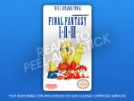 NES - Final Fantasy I II III Label