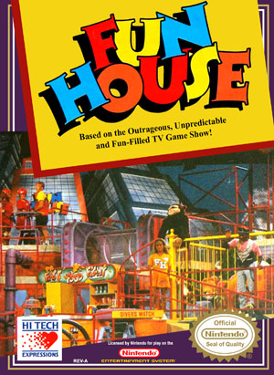 Nes Fun House Retro Game Cases