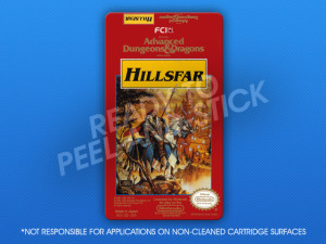 NES - Advanced Dungeons & Dragons: Hillsfar Label