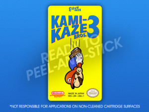 NES - Kami-Kaze Bros. 3 Label