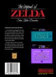 NES - Legend of Zelda: Shin Zelda Densetsu (back)