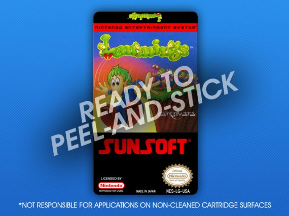 NES - Lemmings Label