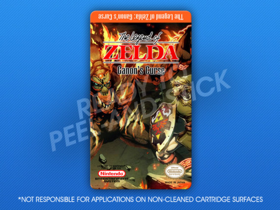 NES - Legend of Zelda: Ganon's Curse Label