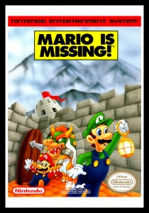 NES - Mario Is Missing Poster
