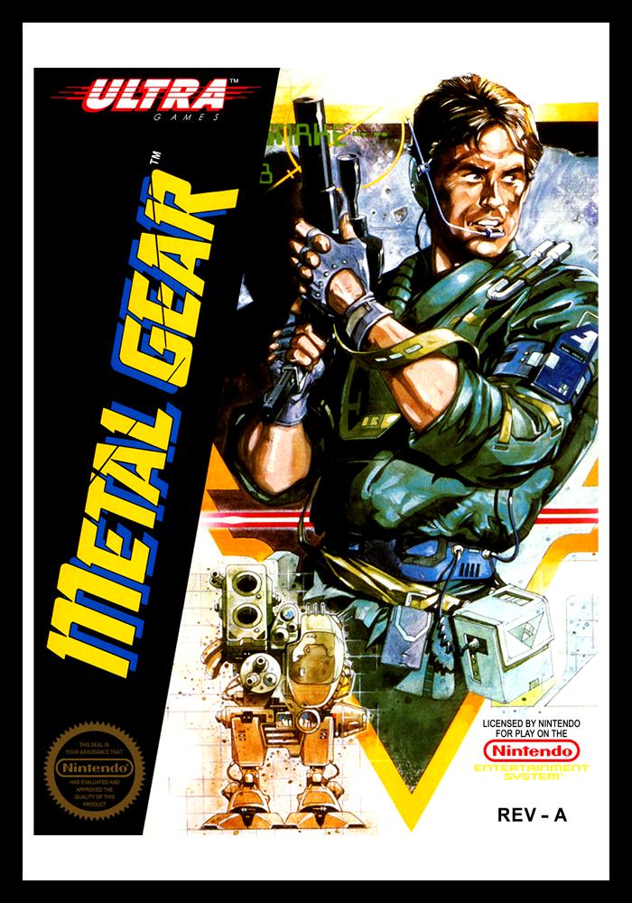 Nes Metal Gear Retro Game Cases