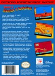 NES - Mickey's Adventure in Numberland (back)