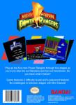 NES - Mighty Morphin Power Rangers (back)