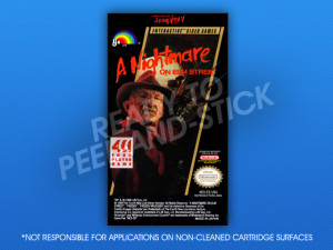 NES - A Nightmare on Elm Street Label