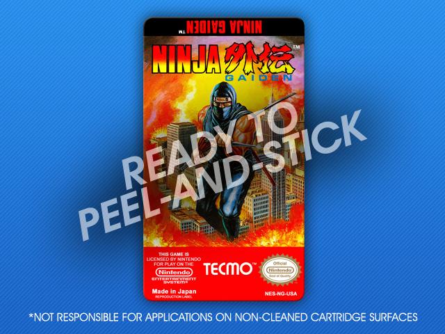 Nes Ninja Gaiden Label Retro Game Cases