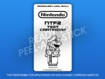 NES - NTF2 Test Cartridge Label