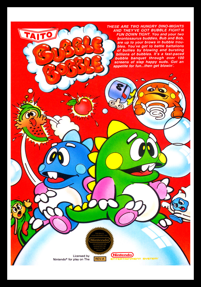 Image result for bubble bobble nes