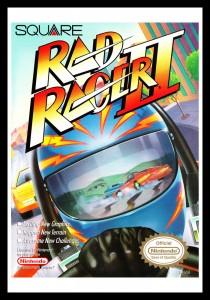 NES - Rad Racer II Poster