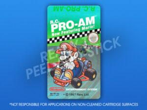 NES - R.C. Pro-AM Featuring Mario! Label