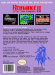 NES - Romance of the Three Kingdoms II (bacK)