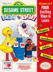 NES - Sesame Street ABC & 123 (front)