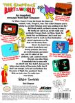 NES - Simpsons, The: Bart vs. The World (back)