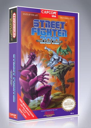 Street Fighter 2010 The Final Fight Retro Game Cases