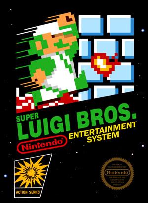 NES Super Luigi Bros Custom Game Case Retro Game Cases