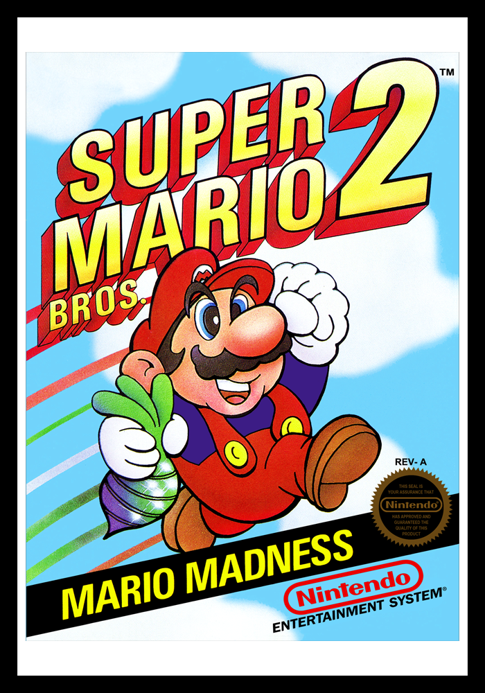 nes super mario bros 2 retro game cases. Black Bedroom Furniture Sets. Home Design Ideas