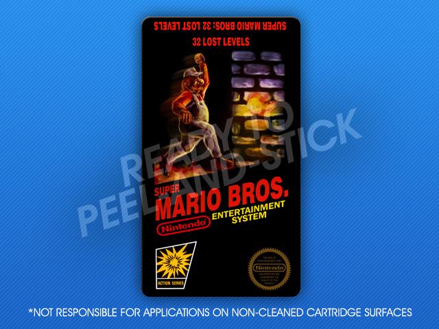 Nes Super Mario Bros 32 Lost Levels Label Retro Game Cases