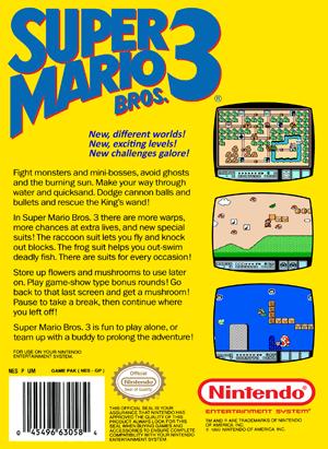 NES - Super Mario Bros. 3 (back)