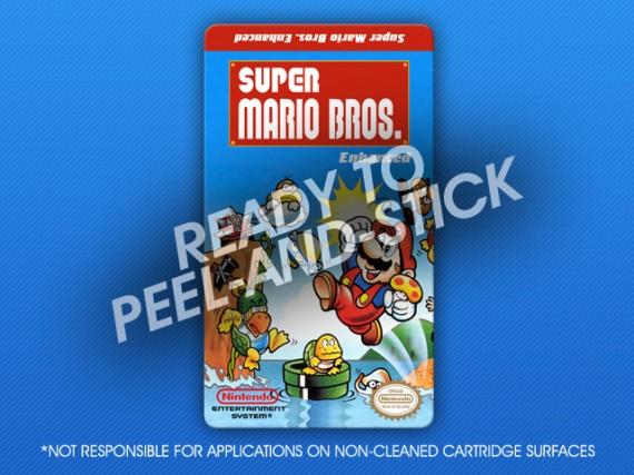 NES - Super Mario Bros. Enhanced Label