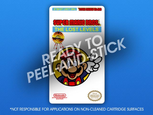 Nes Super Mario Bros The Lost Levels Label Retro Game Cases